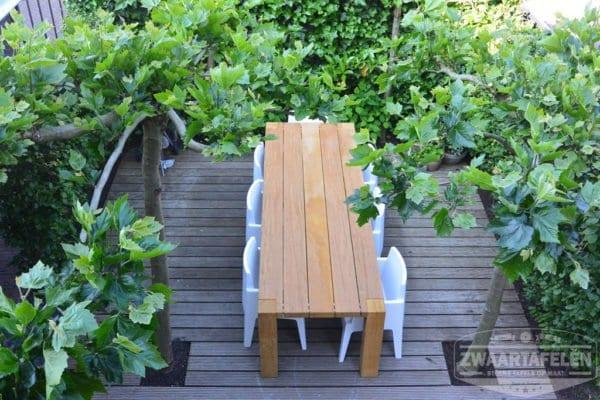 Balken buitentafel bilinga hout