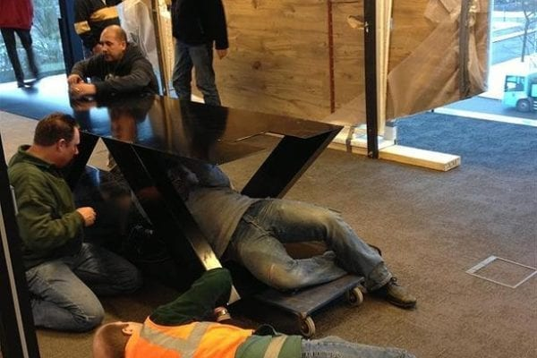 5 meter ovale vergadertafel