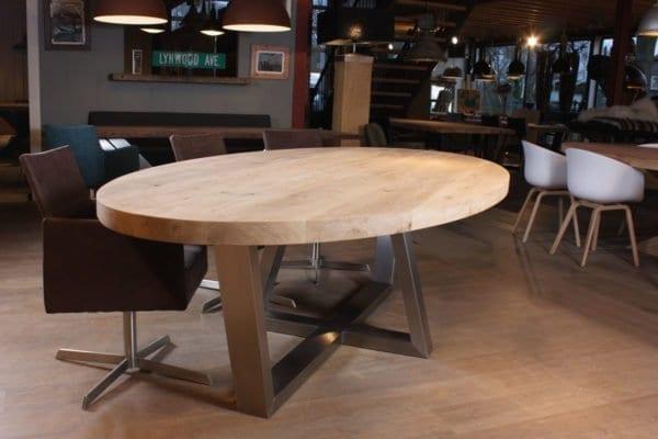 Ovale tafels zwaartafelen made in holland robuuste for Ovale tafel