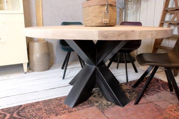 Eettafel staal hout. simple vidaxl eettafel bureau stevig sheesham