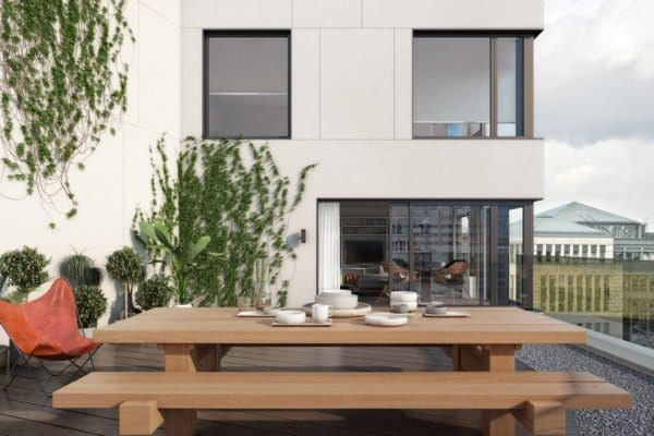 Massief bilinga houten picknicktafel