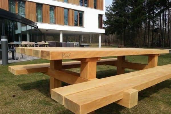 Picknicktafel bill massief bilinga houten tafel