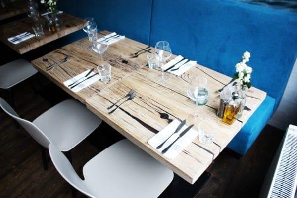 Massief eiken restaurant tafels