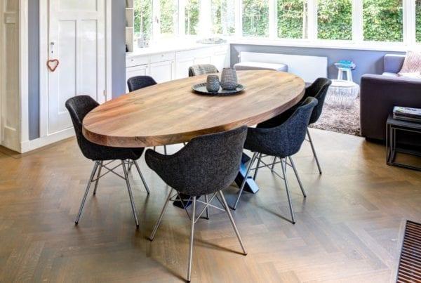 Massief eiken houten tafel op maat