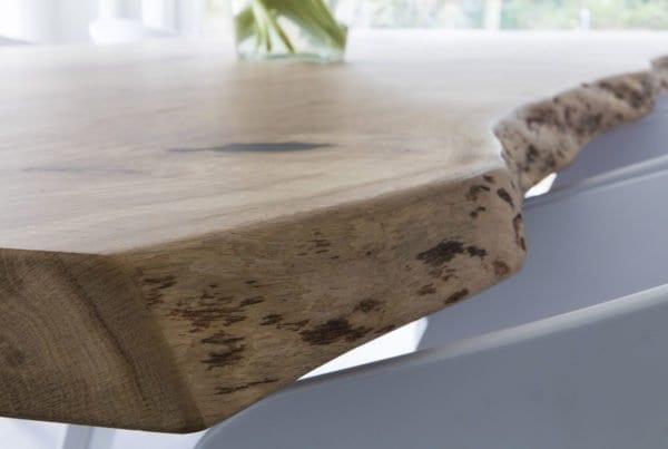 PIM stalen onderstel met eiken houten boomstamblad