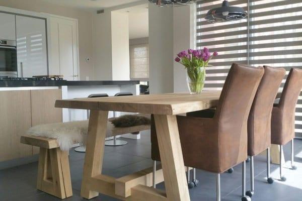 Massief eiken houten tafel Anton