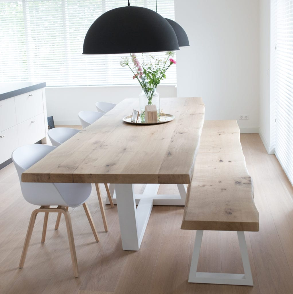 Stalen onderstellen zwaartafelen made in holland for Bank skandinavisch