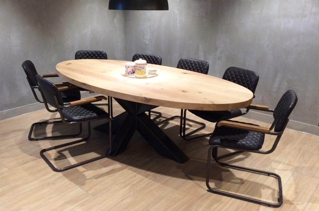 Ovale Tafel Hout : Ovale tafels zwaartafelen made in holland robuuste tafels