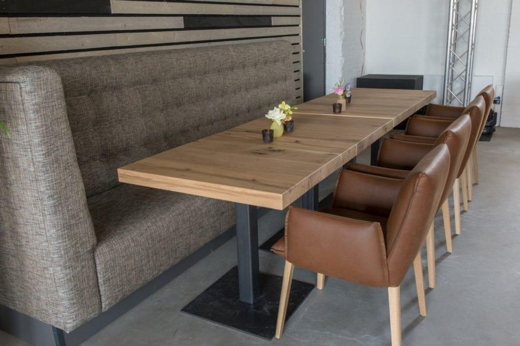 Vierkante Houten Tuintafel 8 Personen.Vierkante Tafel Op Maat Zwaartafelen Made In Holland