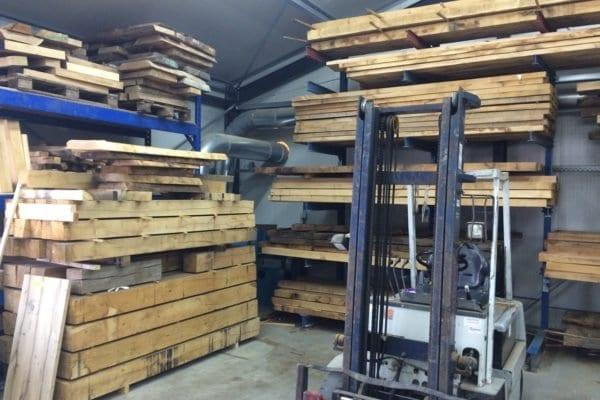massief eiken ruw onbehandeld eiken hout