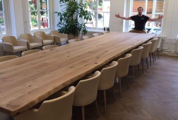 Massief eiken grote vergadertafel