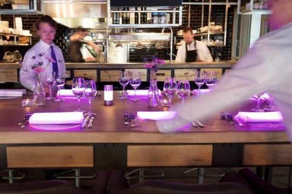 Massief eiken chef's table