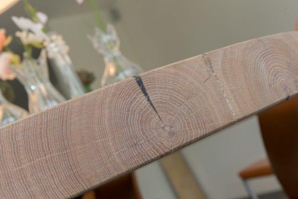Massief eiken houten ovale tafel op maat