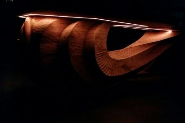 Massief eiken houten bureau tafel op maat