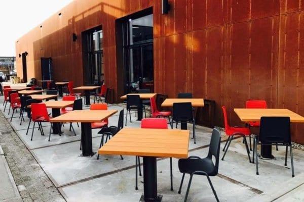 Massief bilinga houten terrastafel