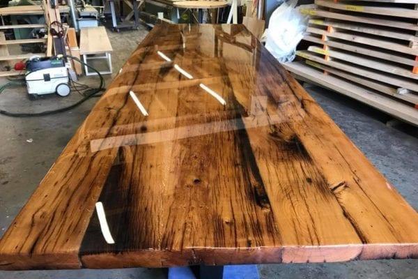 Massief oud eiken houten tafel op maat