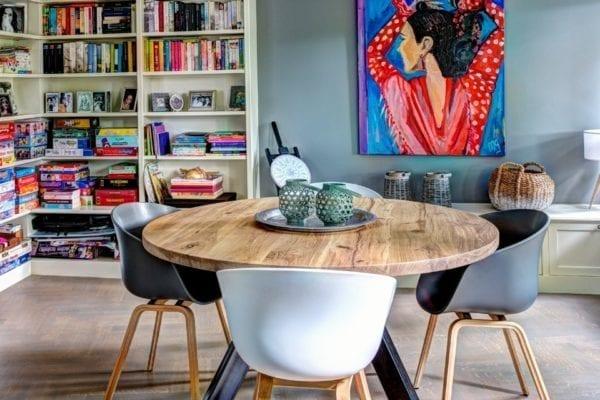 Ronde Houte Tafel : Ronde tafel op maat zwaartafelen made in holland