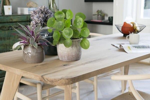 Massief eiken houten retro tafel op maat
