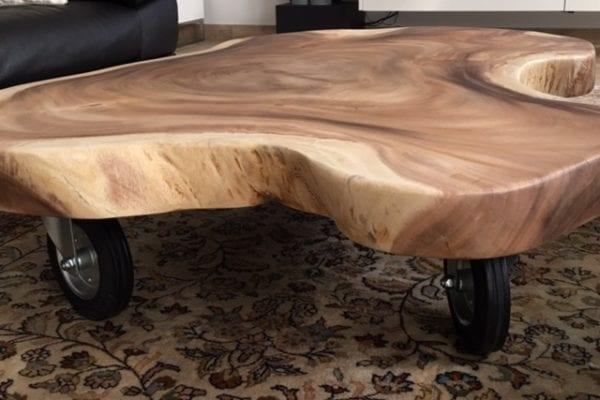 Suarhouten salontafel