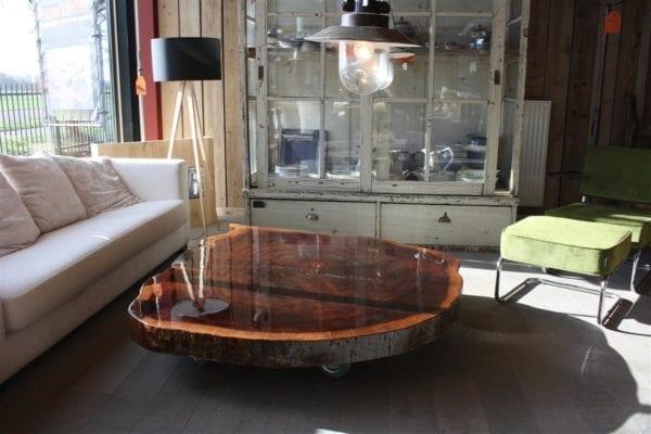 Superglimmende salontafel