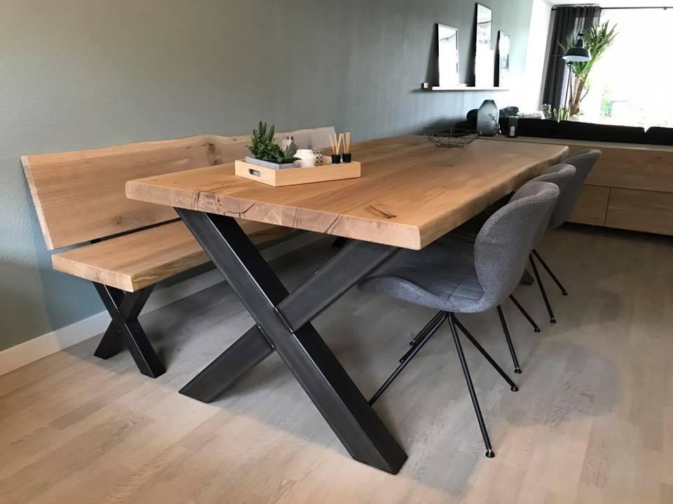 Nieuw Koop je op maat gemaakte eettafel-bank bij Zwaartafelen LV-39