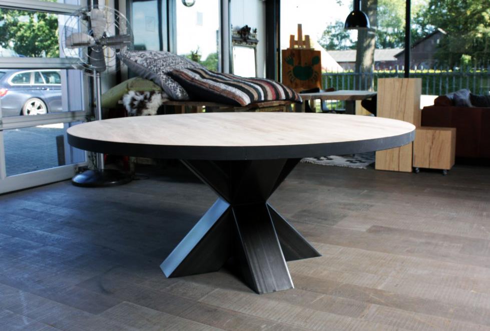 Ronde Eethoek Tafel : Ronde tafel op maat zwaartafelen made in holland