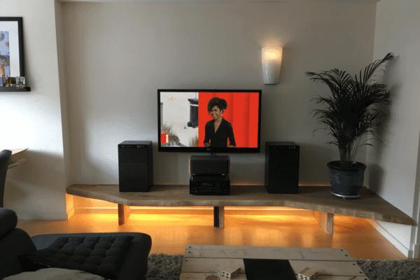 Rustiek eiken tv-meubel