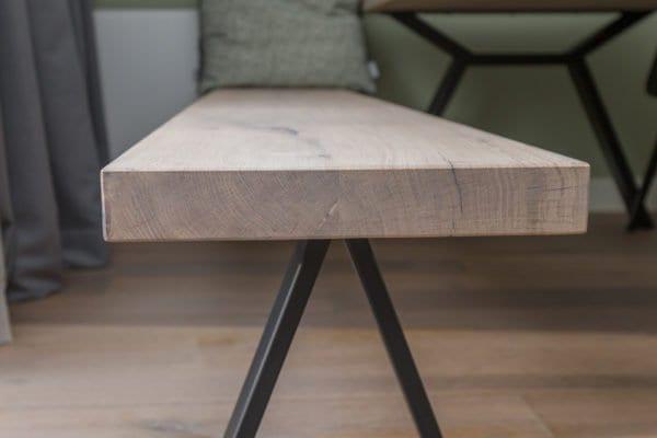 Eettafel bank hout