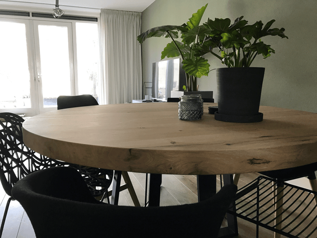 Kleine Ronde Eettafel : Ronde tafel op maat zwaartafelen made in holland
